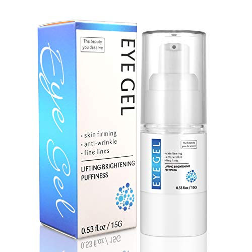 Eye Gel Hydrating GelCream Moisturizer Under Eye Treatment Hyaluronic Acid Brightening Treatment Anti Aging Complexes Reduce Bags Dark Circles Puffiness Wrinkles Fine Lines for Men Women05oz