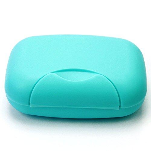 Lyuboov 1pcs Plastic Soap Case Porte-boîte Conteneur pour Les Voyages en Plein air Utilisation à la Maison (Blue)