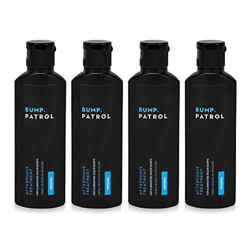 Bump Patrol Original Formula After Shave Bump Treatment Serum - Razor Bumps, Ingrown Hair Solution for Men and Women - 4 Ounces 4 Pack