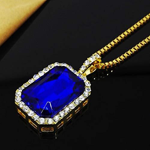 Luxus-Halskette Hochwertige Herren-Halskette Original Special Trend Magic Supplies Weihnachtsgeschenkblau L.