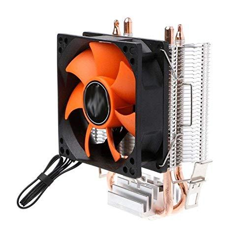 Nuevos Accesorios de Impresora Deek-Robot Hot Double Copper Tube CPU Ventilador de enfriamiento 2 Heatpipe Aluminio PC Cooler Ventilador de enfriamiento Apto para 775/1155 Apto para 754 / AM2 Jy23 19