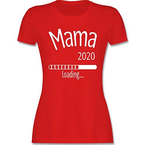 Schwangerschaft - Mama 2020 Loading - L - Rot - Baby Loading 2020 Shirt Damen - L191 - Tailliertes Tshirt für Damen und Frauen T-Shirt