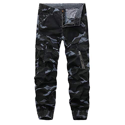 N/ A Pantalon pour Homme Pantalon Cargo Camo Multi Poches Salopette Militaire Pantalon de Combat Pantalon d'escalade de Marche Chaud en Plein air