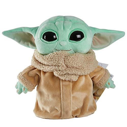 Juguete de peluche de Star Wars, figura pequeña Yoda de 7.9in de The Mandalorian, personaje de peluche coleccionable para los fans de películas de todas las edades, de 3 años y más