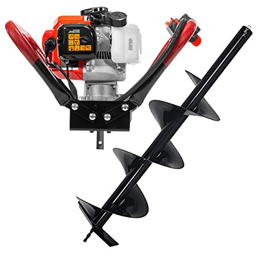 "XtremepowerUS V-Type 55CC 2 Stroke Gas Post Hole Digger 3/4"" Shaft 1-Man Auger Powerhead (Digger + 6"" Bit) EPA Motor"