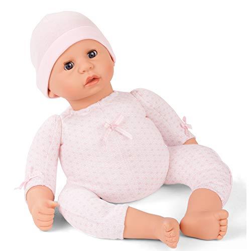 Götz 2061061 Cookie to Dress Puppe - 48 cm große Babypuppe mit blauen Schlafaugen, ohne Haare und einem Weichkörper - 2-teiliges Set