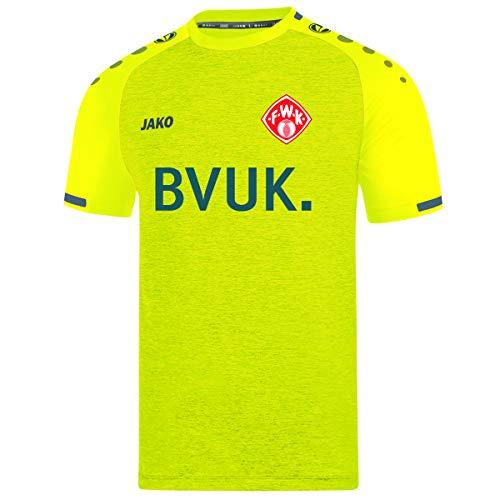 Jako Herren Würzburger Kickers Trikot KA Ausweich, (Saison 19/20), light yellow/Anthrazit, L, WK4219I