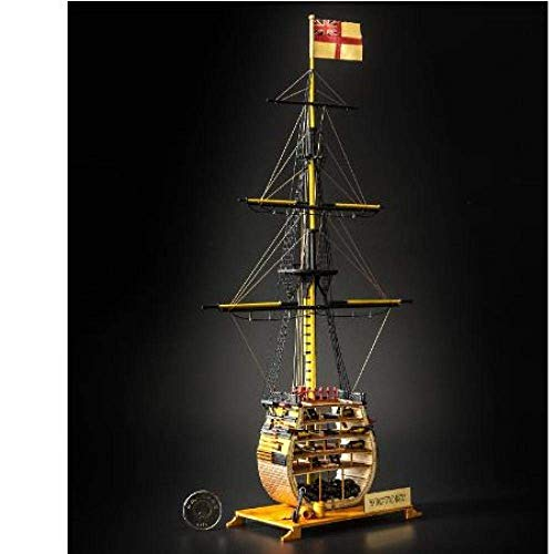 XIUYU Wohnzimmer Dekorationen Chem Sailboat Modell Maßstab 1/200 HMS Victory Schiffsmodell Kits + Brass Upgrade-Zubehör-Kits