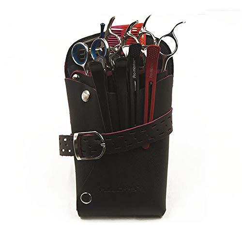 Peluquería Cintura Bolsa de cinturón Peine De Las Tijeras Del Pelo Bolsa De Funda Bolsa Salón Del Organizador Del Almacenaje Con La Cintura Del Cinturón De Hombro Diseño For Peluqueros Estilista Shear