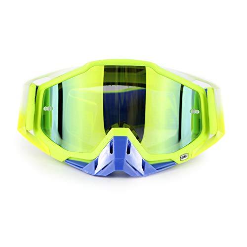 Moto d'hiver Lunettes de Ski de Snowboard sur des Lunettes CS Shooting Lunettes de Protection UV Anti-buée résistant aux Rayures Équitation en Plein air Équipement de Moto,F