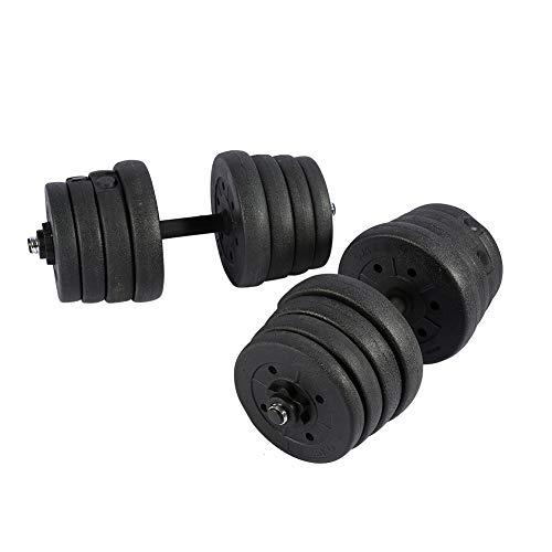 Juego de Mancuernas 30 kg, Pesas de Hierro Fundido + Tapa Ajustable para Hombres Mujeres Home Gym Fitness Pérdida de Peso Entrenamiento de Fuerza