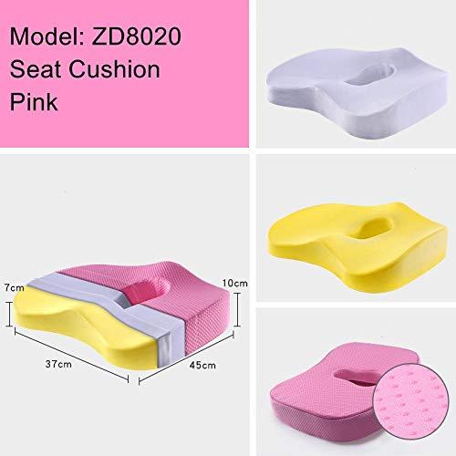 ZSQSC Anti-slip Memory Foam Stoel Kussen Voor Auto Terug Ondersteuning Sciatica Tailbone Pijn Relief Kussen Rolstoel Kantoor Stoel Kussen ZSQSC