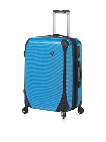 Mia Toro Italy Fibre Di Carbonio Largo Hardside Spinner Luggage Carry-On Suitcase, 61 cm, Blue