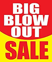 Big Blow Out Sale Store Business Retail Sale Display Signs 18x24 Full Color 5 Pack [並行輸入品]
