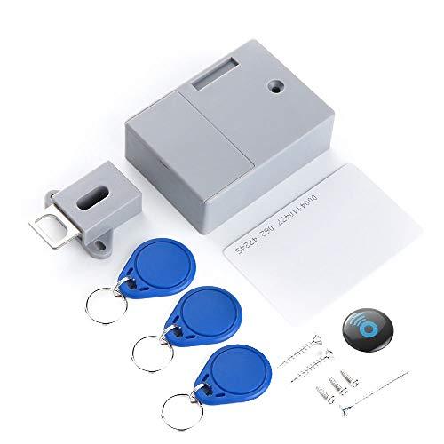 Festnight Schrankschloss Kabinett RFID-Verschlusskit IC-Karten-Sensor Keyless Digital Verstecktes Kabinett Smart Lock DIY unsichtbare Sperre ohne perforiertes Loch