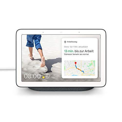 Google Nest Hub Nest Hub, Assistant, Rectángulo, Carbón Vegetal, Blanco, 17,8 cm (7