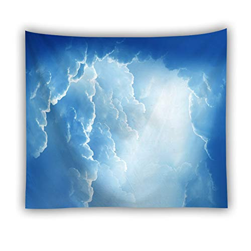 GenericBrands Sol Colorido Tapiz de Nubes Cielo Soleado Fondo Tela Toalla de Playa Decoración Colgante de Pared para Dormitorio Sala de Estar Puerta