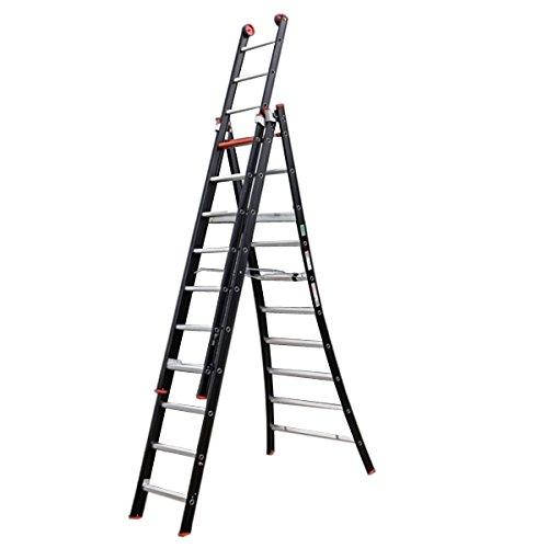 Altrex 0000423 ladder van aluminium, handmatig, aantal treden: 3 x 12