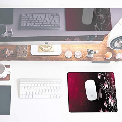 Sidorenko Gaming Mauspad | Mousepad | spezielle Oberfläche verbessert Geschwindigkeit und Präzision | Fransenfreie Ränder | rutschfest | Rot