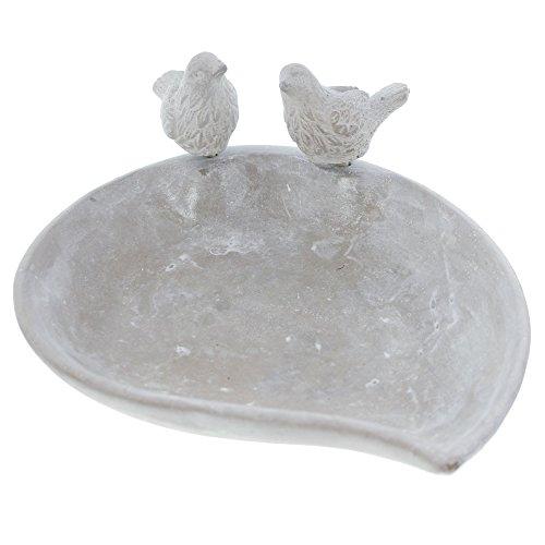 FRANK FLECHTWAREN - Wildvogeltränken in Grau, Größe Maße: 24 x 20 x 5 cm, Gesamthöhe 10 cm