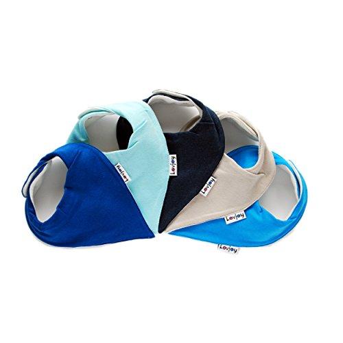 Lovjoy Bandana Baby Halstuch Lätzchen, Dreieckstucher, Für 0-3 Jahre, 5er Pack (Tints of Blue)