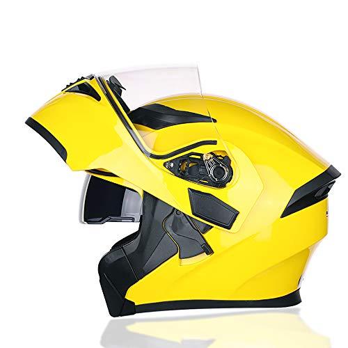 QYSQ Casco de Moto, Casco De Moto Modular Integral con Doble Visera, Casco de Moto Scooter para Mujer or Hombre, Certificado ECE Dot