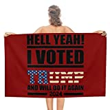 I Voted for Donald Trump 2024 Beach Towel Travel Accessories Gifts for Adults Beach Towels for Bathroom Beach Blanket 51' x 31'