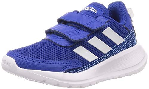 adidas Unisex-Child Tensaur Run Sneaker, Team Royal Blue/Footwear White/Bright Cyan, 34 EU