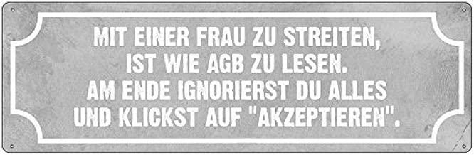 INTERLUXE Holzschild DER HAUPTGRUND FÜR STRESS Lustig Spruch Idioten Türschild