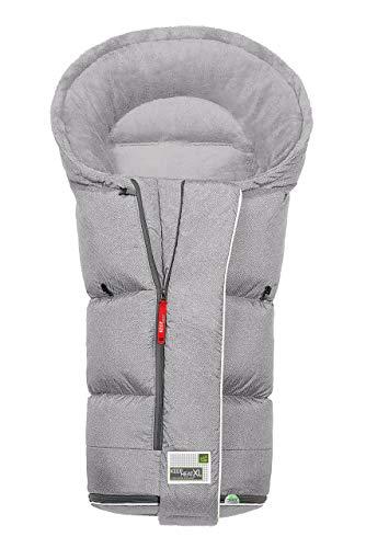 Odenwälder BabyNest Fußsack Keep Heat XL fashion new woven soft grey