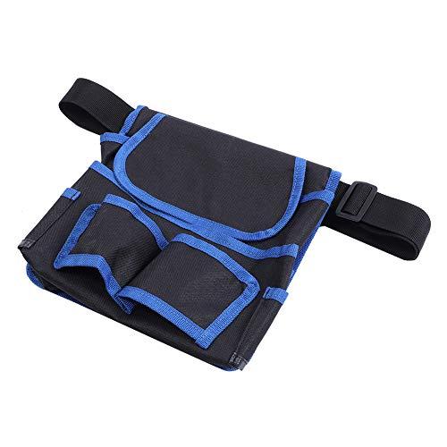 DFGH Werkzeugtasche 24x23cm Multifunktionale Multifunktions-Taschen Gartenspeicher-Taille Tasche Elektriker Werkzeug ContainerBlack + Blau