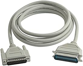 New 06091 IEEE-1284 DB25 Male to Centronics 36 (C36) Male Parallel Printer Cable, Beige (10 Feet, 3.04 Meters)