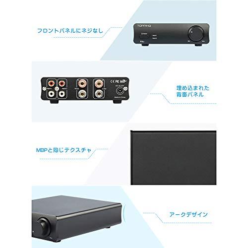 ToppingPA3HiFiパワーアンプ80Wx80WTDA7498EクラスDデスクトップデジタルアンプHifiオーディオステレオアンプ(ブラック)