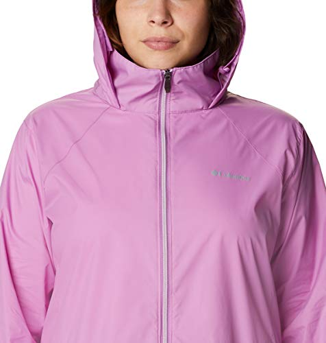 Columbia Women's Switchback III Adjustable Waterproof Rain Jacket, Blossom Pink, X-Small