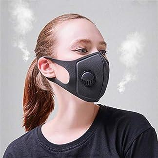 Deeabo Mascarilla para El Oído Mascarilla con Esponja Anti-Smog Mascarilla de Seguridad Máscara de Filtración Pm2.5 Respirador Antipolvo Antipolvo con Mufla Bucal con Válvula Respiratoria 3.0