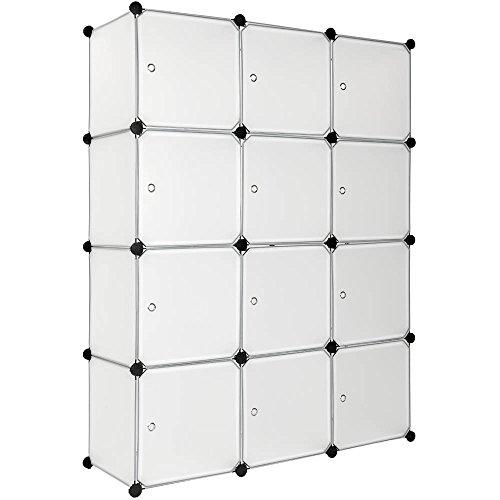 TecTake Steckregal Kleiderschrank Schrank Regal Kunststoff - Diverse Farben - (Weiß | Nr. 401577)