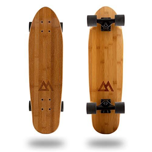 Magneto Mini Cruiser Skateboard Cruiser | Short Board | Canadian Maple Deck  Designed for Kids Teens and Adults … Bamboo