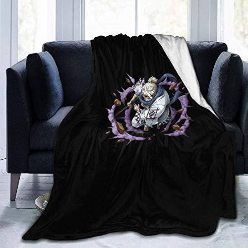 FETEAM Manta De La Siesta Felpa Sofás Franela Ryuma Samurai de Wano Kuni de Saga Thriller Bark Buen sueño L127cm x W102cm