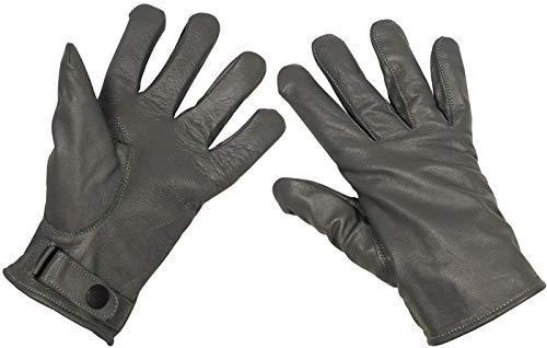 Bundeswehr Lederhandschuhe, gefüttert, grau, Größe L