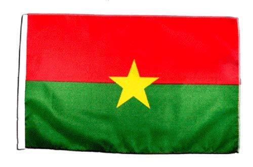 FlagSuperstore© Burkina Faso Bootsflagge, 45,7 x 30,5 cm – Baumhäuser, Wohnwagen – Ärmel 45 cm x 30 cm – Country
