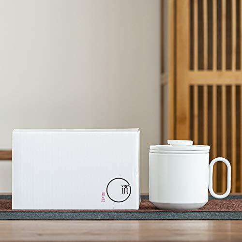 Taza de cerámica con filtro Taza de té Taza de leche Taza de oficina de negocios creativa D