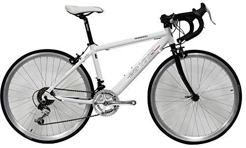 giordanoshop Bicicletta Ibrida da Uomo 24' 14V Denver Bike Corsa Bianca