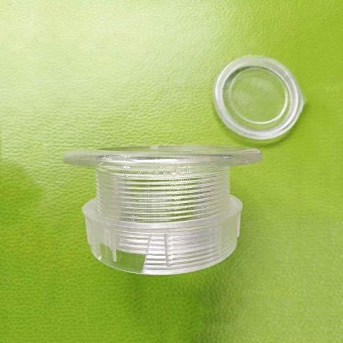 HTTH Juego de tapas de plástico para sombrillas de mesa para patios, con orificio más grueso, anillo y tapas (blanco)