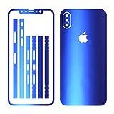 Leuchtkäfer Werbetechnik iPhone X BLAU METALLIC MATT Folie Skin ZUM AUFKLEBEN Bumper case Cover schutzhülle i Phone