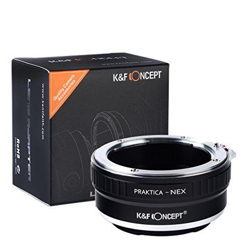 K&F ConceptR マウントアダプター Praktica-NEX Prakticaマウントレンズ- Sony NEX Eマウントカメラボディ対応レンズアダプター Sony NEX-3 NEX-3C NEX-5 NEX-5C NEX-5N NEX-5R