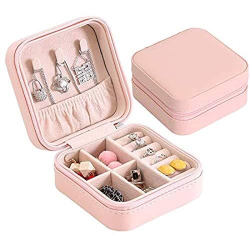 Ikpdbw Jewelry Storage Box, Travel Jewelry Box, Portable Jewelry Box, Zipper Leather Storage