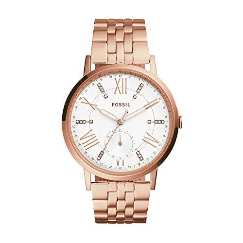Fossil ES4246 Gazer multifunción Rosa Dorado Reloj de Acero Inoxidable de Las Mujeres Un tamaño Oro de Rose