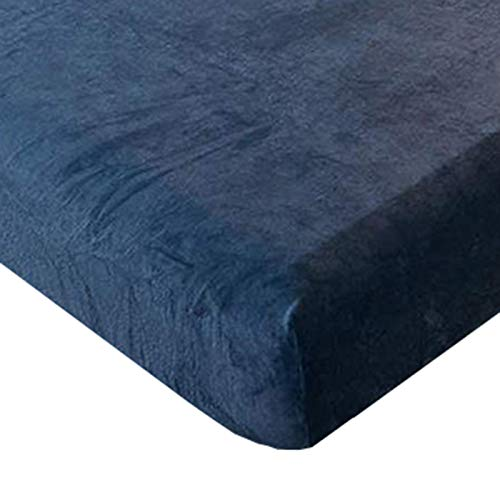 Lenzuolo sotto con Angoli Invernale Felpato in Flanella Anti-Pilling, Offerta Elastico Copri Materasso, Simple, double, King size--Blue  200x220CM
