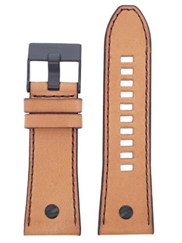 Diesel LB-DZ7406 - Correa de repuesto para reloj de pulsera, de piel, 28 mm, color marrón