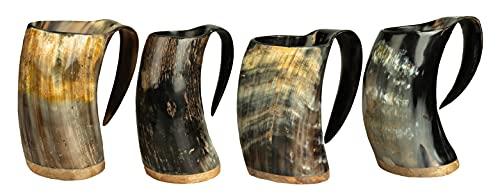Halle 15 Clothes Wikinger Horntasse METBECHER Hornbecher Viking Mug Mittelalter Tasse Echthorn 0,3-0,7 Liter !!! (500-700 ml)